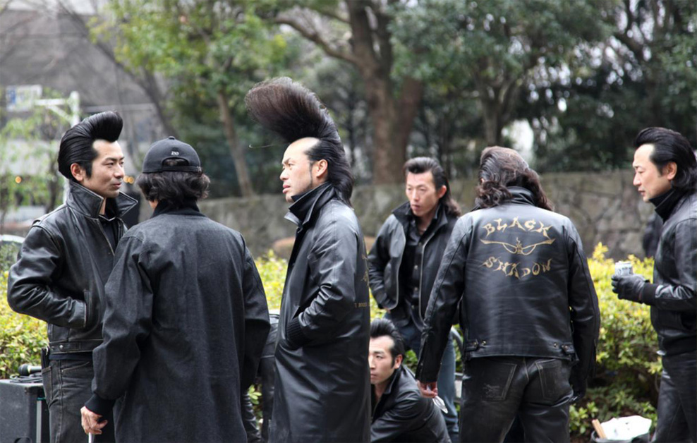 Japanese Biker S Spectacular Hair Retrohelix Com