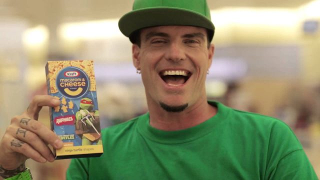 Crazy Kraft Macaroni & Cheese Ninja Turtles Shapes and Vanilla Ice commercial