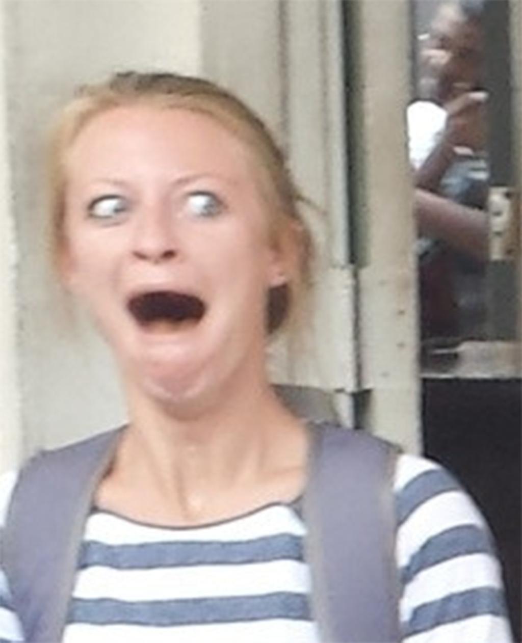 Little white girl face meme