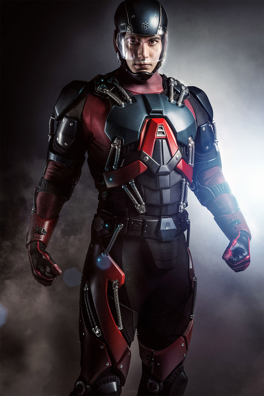 The Atom suit/armor on Arrow