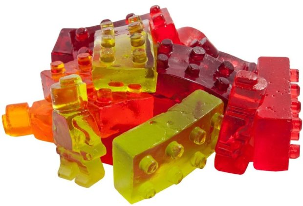 Lego building bricks candy molds