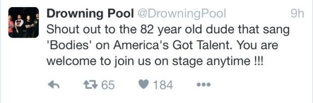 Drownign Pool tweet