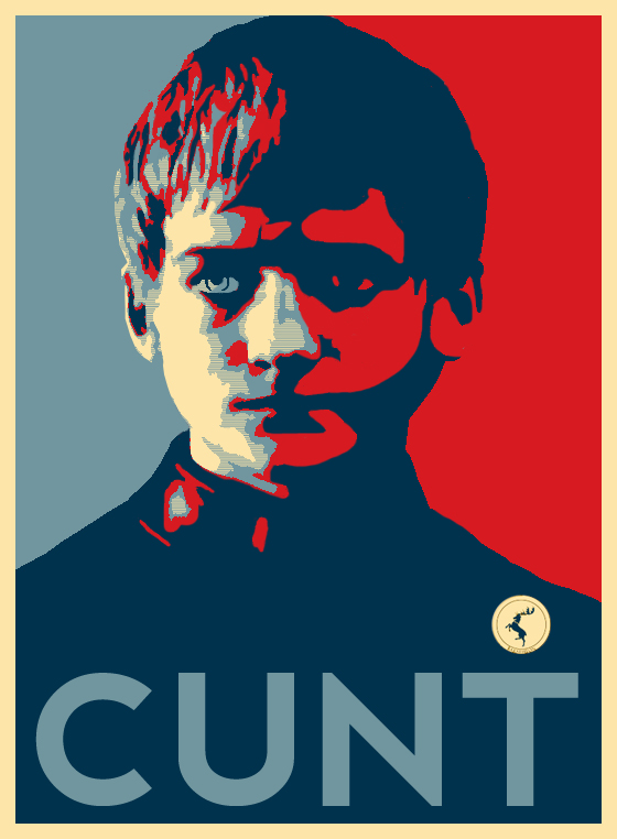 obama style poster for joffrey baratheon game of thrones