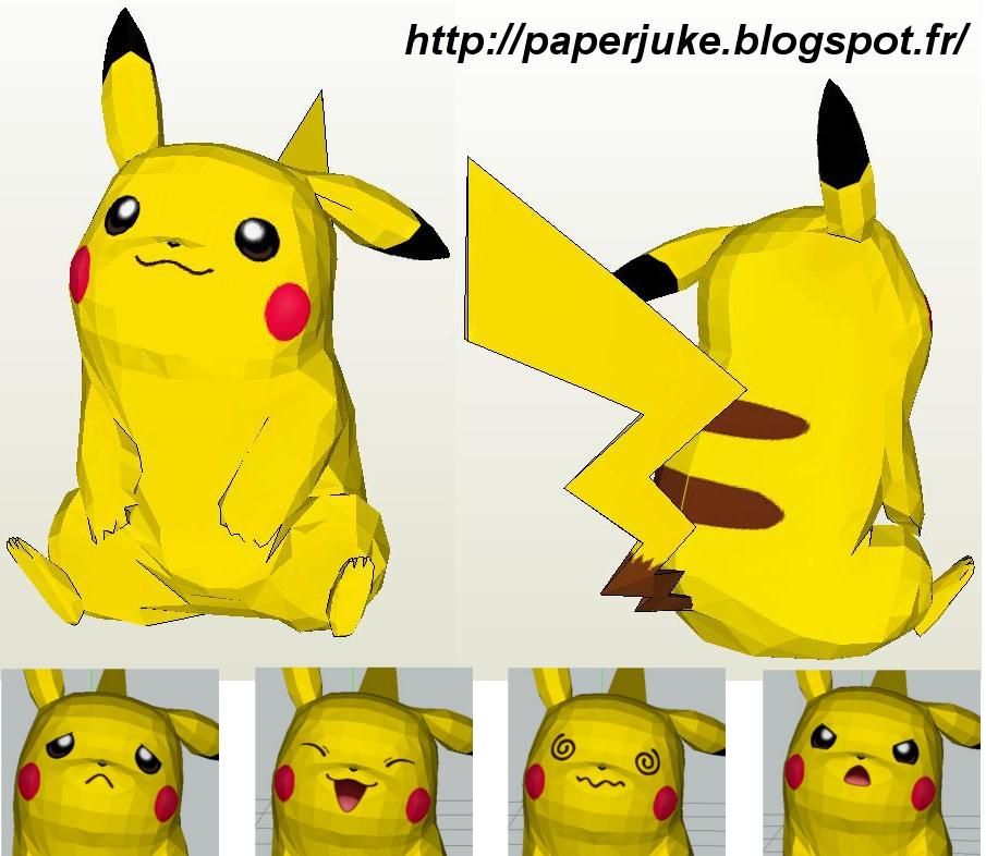 Life Size Papercraft Pikachu Retrohelix