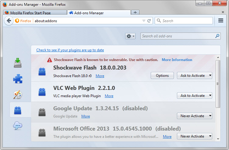 "The Mozilla ""Adobe Flash Player"" scare is over, fixes were"