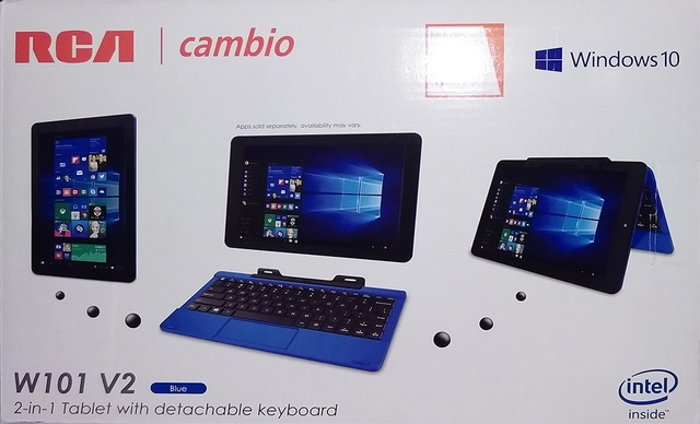 A short review on the RCA Cambio W101 V2 tablet with Windows
